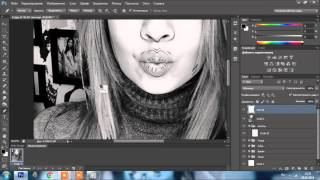 Процесс отрисовки портрета по фото в Adobe Photoshop