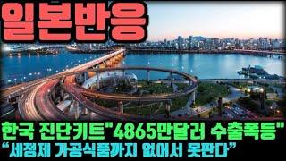 """[일본반응] 한국 진단키트 """"4865만달러로 수출폭등""""…"""
