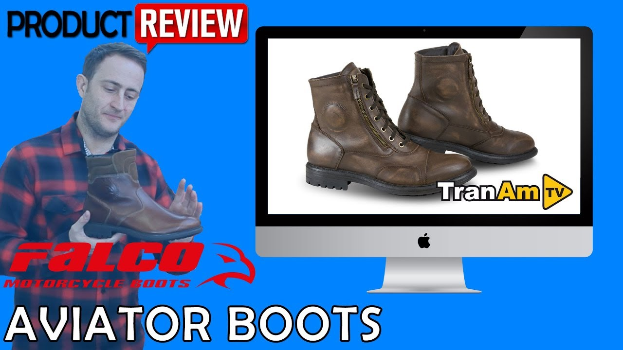 b9b065406ae2 FALCO Aviator Retro Vintage Motorcycle Boots Review - Full HD - YouTube