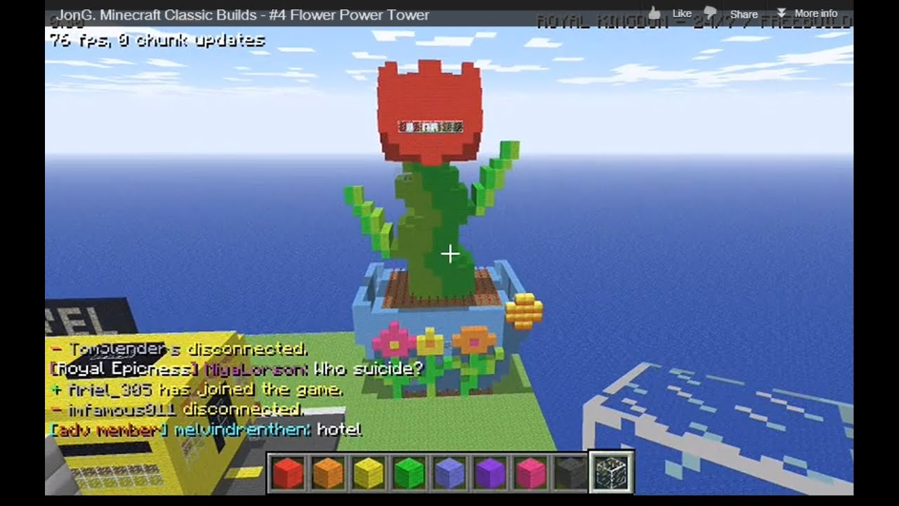 Jong Quot Minecraft Classic Quot Builds Flower Power Tower