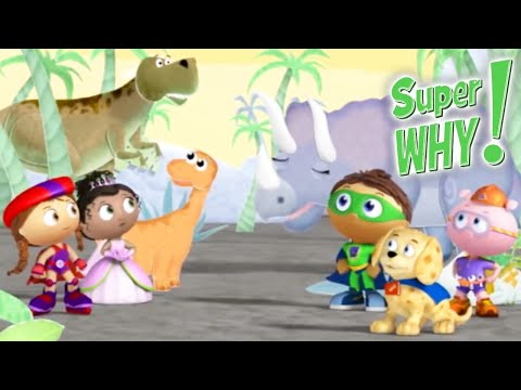 Super Why 208 - Baby Dino's Big Discovery | Cartoons for Kids | Funny Cartoons