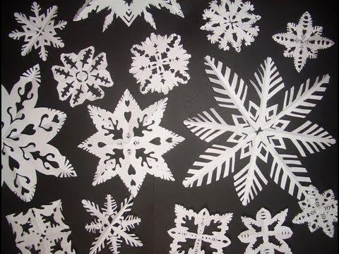 Come Fare I Fiocchi Di Neve Di Carta How To Do Paper Snowflakes English Subs