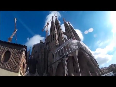 Trip to Barcelona, Catalonia, Spain -  Travel Tour 2015 - Camp Nou, Tibidabo, Time laps HD 1080p