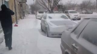 Snow in Baku. 02.02.2012