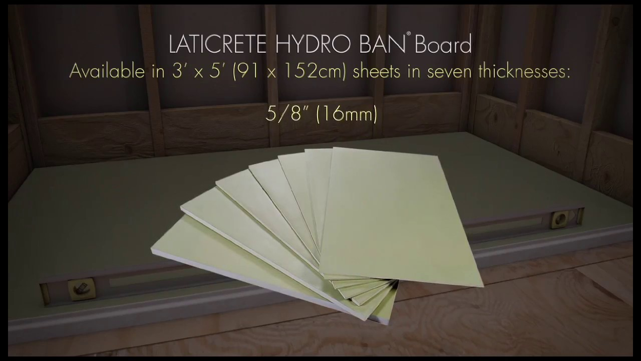 Hydro Ban Pre Sloped Shower Pan Board And Grate Installation Video