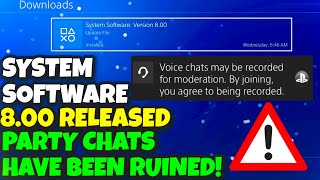 NEW PLAYSTATION 4 SYSTEM SOFTWARE UPDATE 8.00 RELEASED! NEW AVATARS & SONY RECORDING PARTY CHATS!