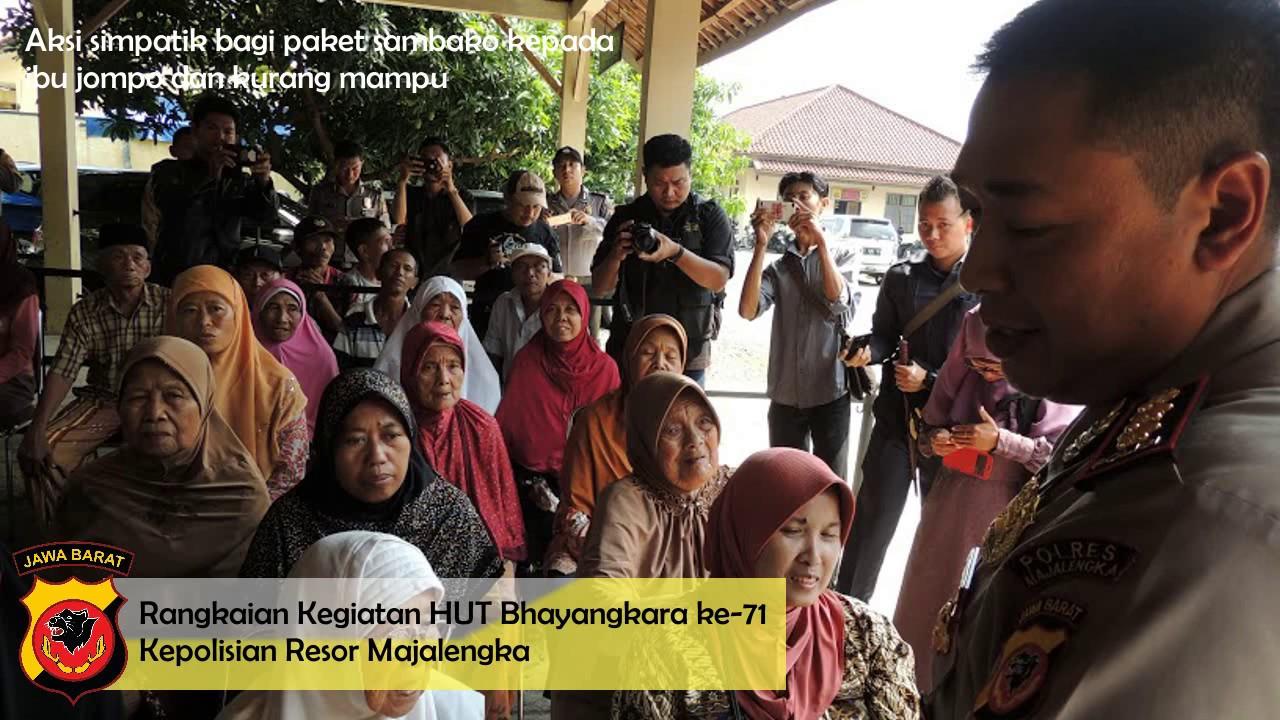 Selamat HUT Bhayangkara ke 71 Kepolisian Resor Majalengka AKBP Mada Roostanto SE MH - YouTube