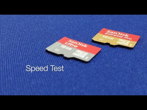 Sandisk Extreme Pro & Ultra microSD Card class 10 - Transfer Speed Test