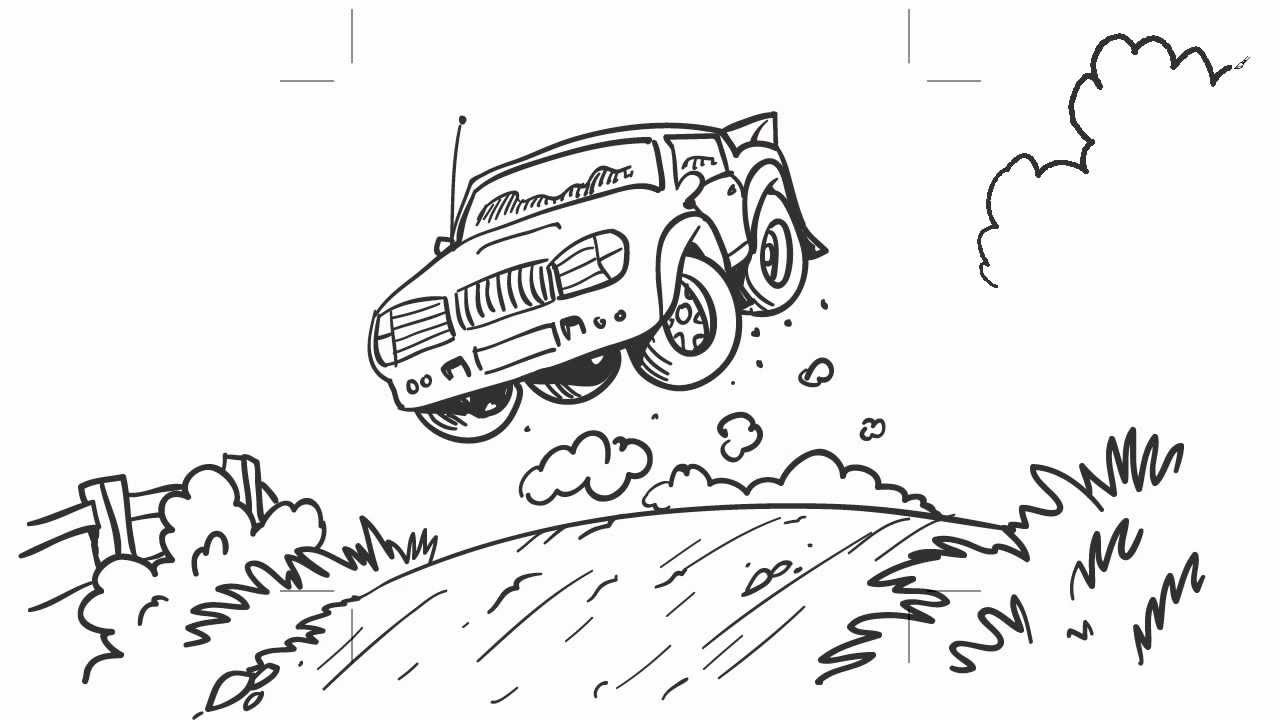 Cartoon Rally Car Speedy Scribble Youtube
