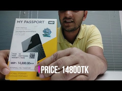 Western Digital 4TB My Passport Portable External Hard Drive Unboxing and quick Review