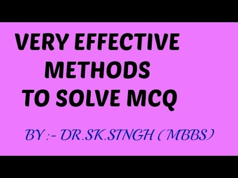 How to solve MCQ for NEET , AIIMS , AIPMT , Bank PO , Railways & Any Competative  Exams By Dr. S.K.