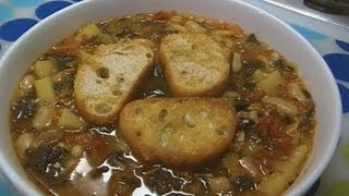 Tuscan Bean Soup with Tomatoes and Kale! Noreens Kitchen