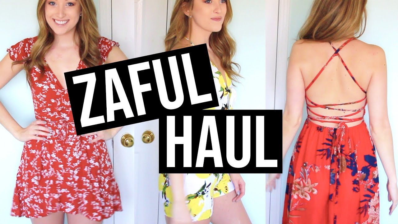48e898070 ZAFUL HAUL + REVIEW + TRY ON | SPRING SUMMER - YouTube
