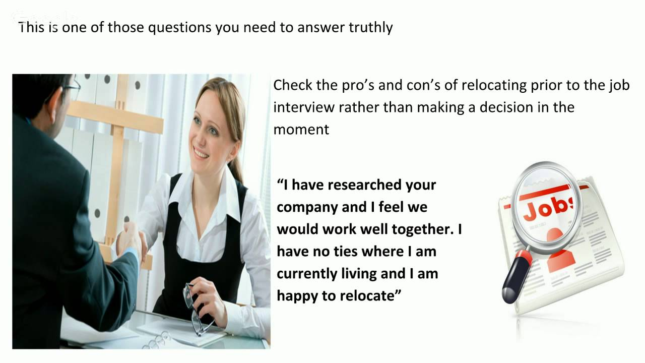 Would You Be Willing To Relocate Interview Question And Answer