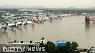 Chennai airport flooded, flight operations suspended