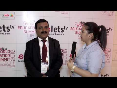 Elets' 7th World Education Summit' 16 - Interview : Prof B A Chopade, Vice Chancellor...