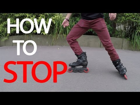 HOW TO STOP ON INLINE SKATES Tutorial