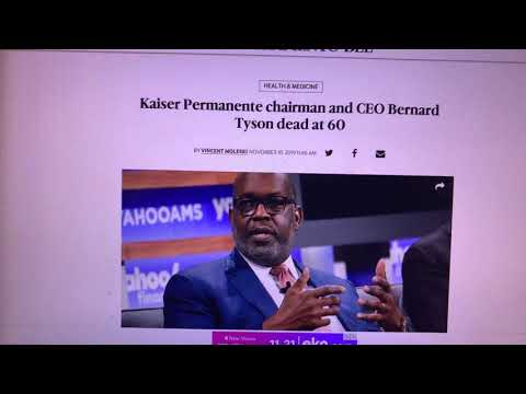 Kaiser CEO Bernard Tyson Died In His Sleep At 60 - Giant In Oakland