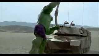 Hulk (2003 film.) Hulk destroys the tanks!