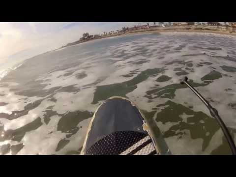 SUP SURFING GALVESTON SEAWALL