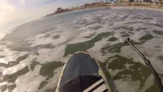 SUP SURFING GALVESTON SEAWALL