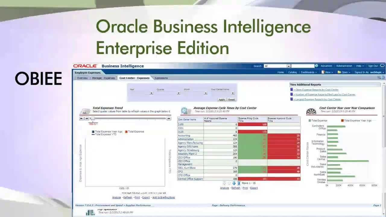 Oracle Business Intelligence Enterprise Edition OBIEE 11g - YouTube