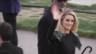 Rosie Huntington-Whiteley @ Paris 25 september 2018 Fashion Week show Yves Saint Laurent / septembre