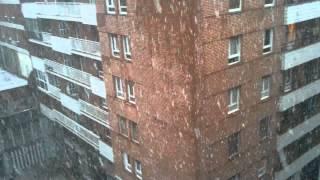 Al fin nieve en Bilbao país Vasco