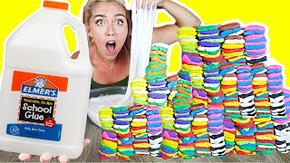 MIXING 100 LAYERS OF CLAY INTO 1 GALLON OF SLIME! MODEL MAGIC MOUNTIAN SO SATISFYING !