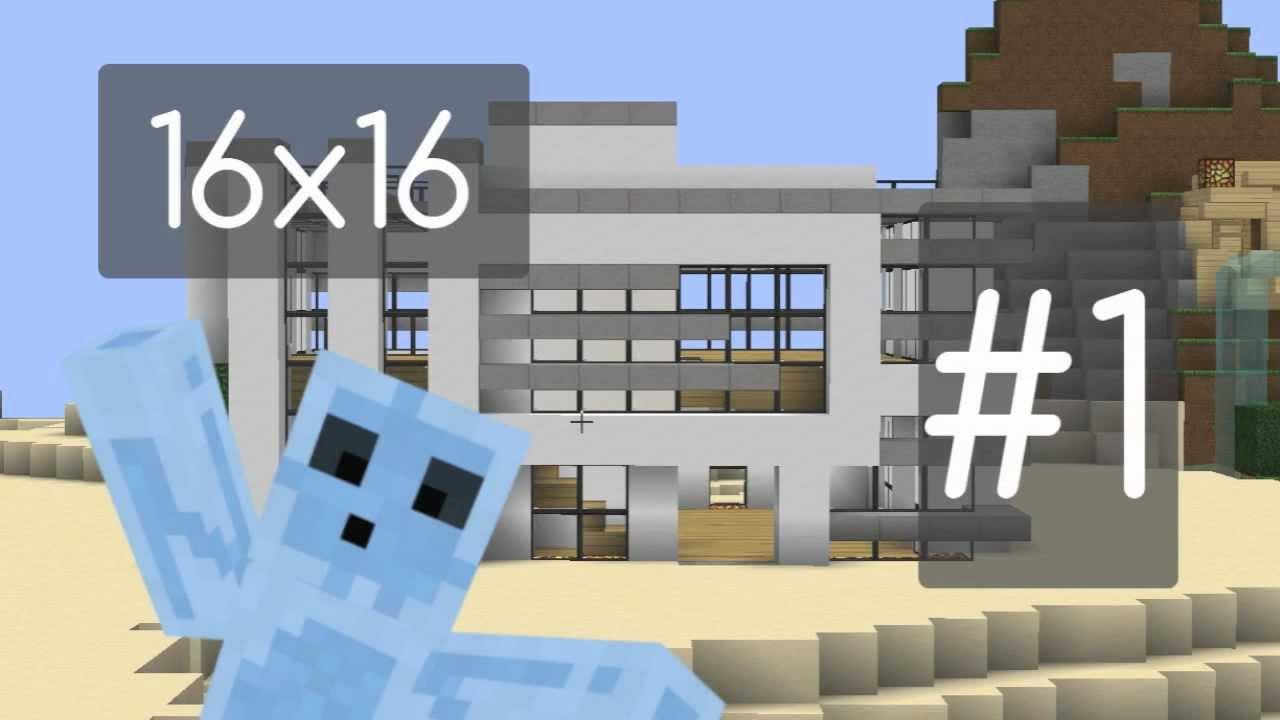 Minecraft Tutorial 16x16 Modern House Part 1 HD   YouTube