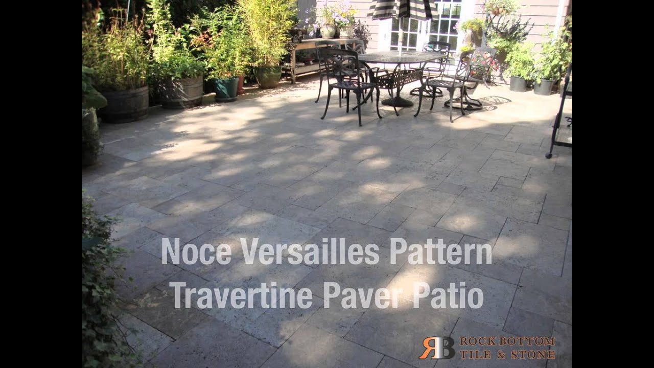 Noce Versailles Pattern Travertine Patio Pavers By Rock Bottom Tile And Stone Llco You