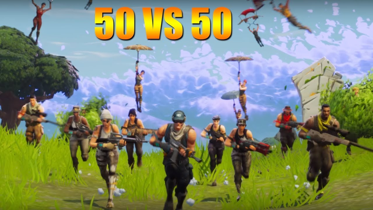 how to play 50 vs 50 fortnite