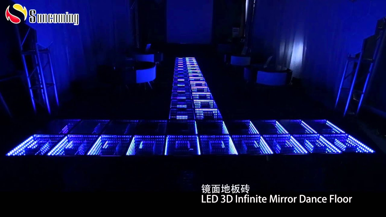 Dj Disco Panel Tile Mirror Infinity Light Up Led 3d Dance Floor