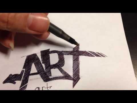 Learn To Draw Simple Graffiti Tutorial