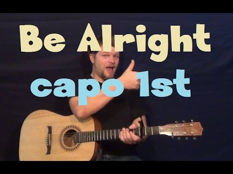 Be Alright Justin Bieber Easy Strum Fingerstyle Guitar Lesson How