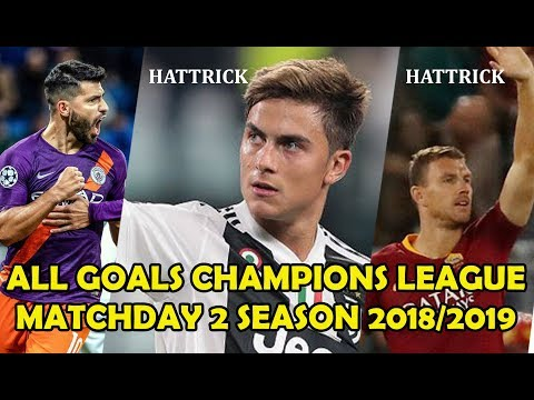All Goals Champions league Matchday 2 Group E - H Extended Highlight HD 1080i