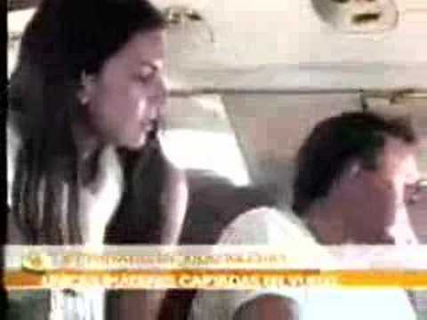 Julio Iglesias inside the jet