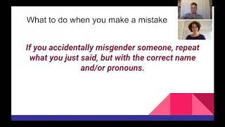 Supporting Trans Students Workshop: What to Do When You Make a Mistake