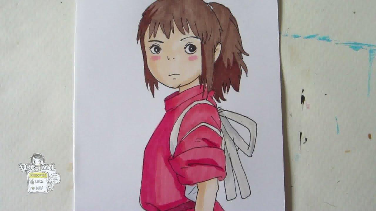 How To Draw Chihiro From Spirited Away 荻野 千尋 Youtube
