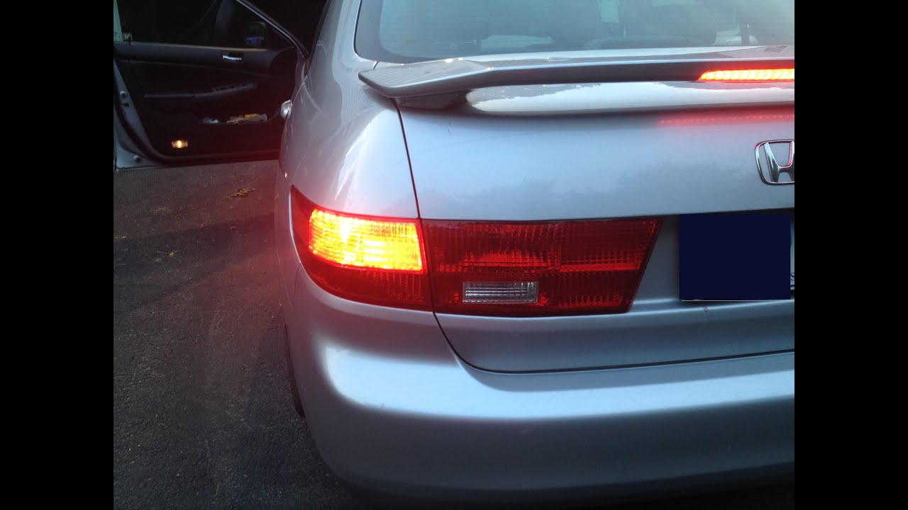 2005 Honda Accord EX Brake Tail Light Change.   YouTube