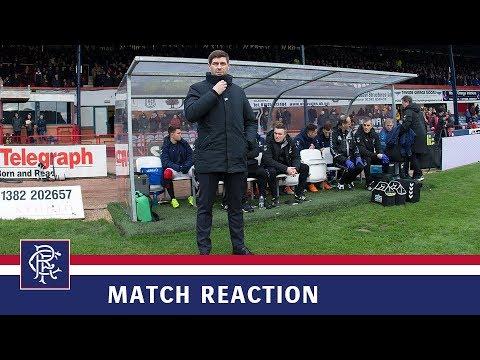 REACTION   Steven Gerrard   Dundee 1-1 Rangers
