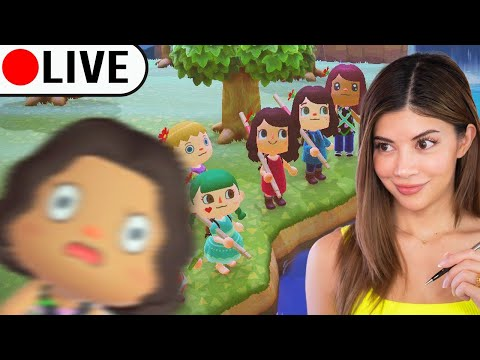 Crashing a big PARTY in Animal Crossing LIVE