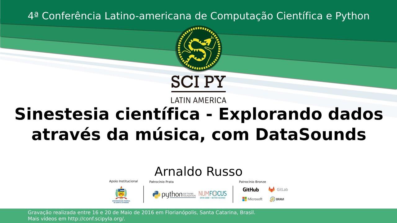 Image from Sinestesia científica - Explorando dados através da música, com DataSounds