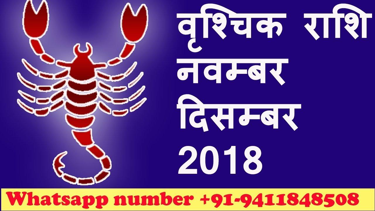 vrishchik rashi November December 2018 rashifal in hindi