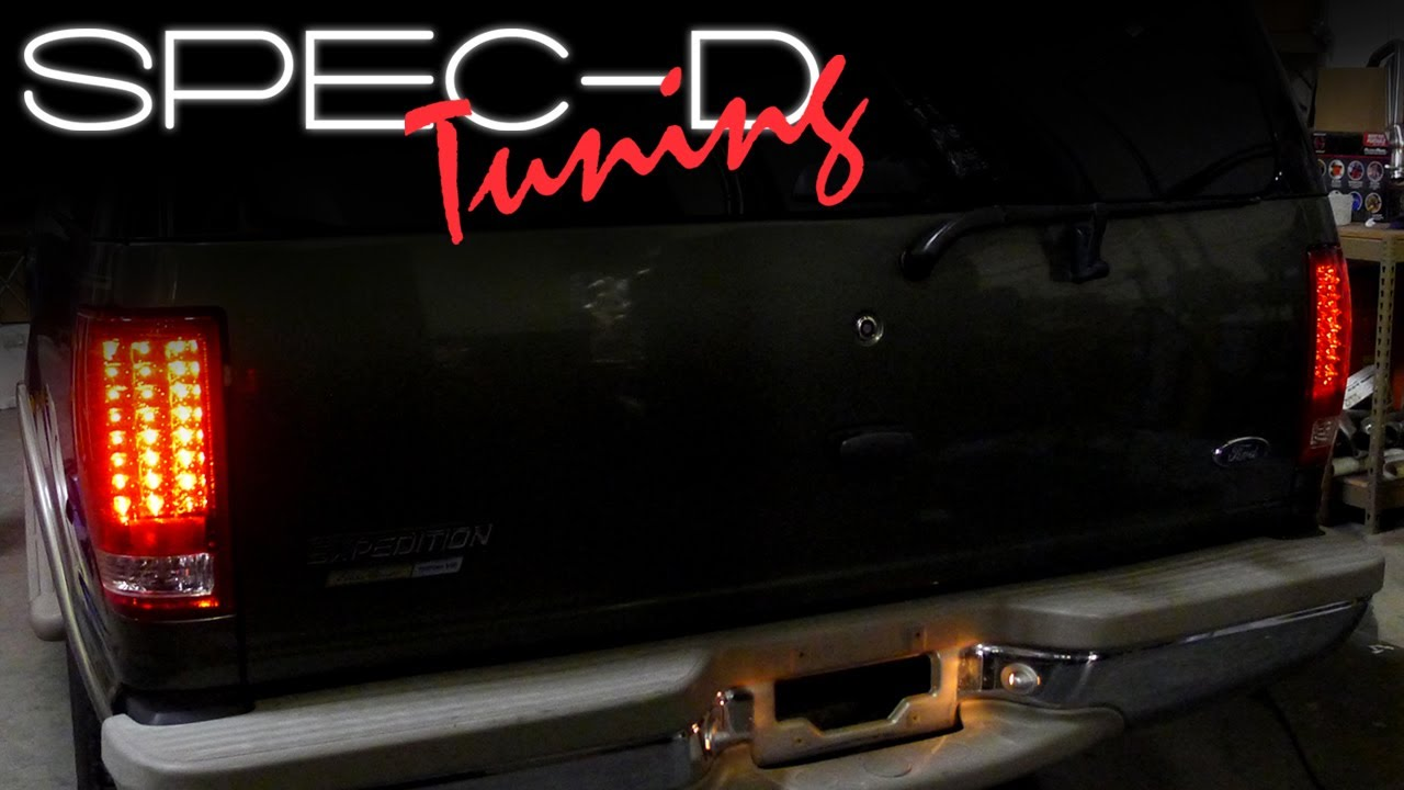 Ford Ranger Tuning >> SPECDTUNING INSTALLATION VIDEO: 1997 - 2002 FORD EXPEDITION LED TAIL LIGHTS - YouTube
