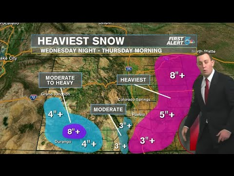 Winter Storm Warnings in effect for southern Colorado starting Wednesday