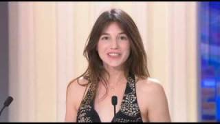Charlotte Gainsbourg - Best Actress Prize-giving - Cannes 2009 closing ceremony