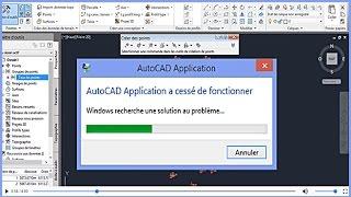rsoudre le problme  AutoCAD Application a cess de fonctionner