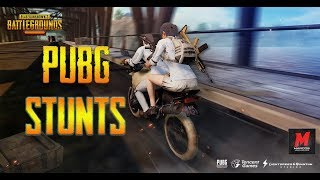 PUBG Amazing Bike Stunts and Kills - Compilation - PlayerUnknown's Battleground  | MARCOS Gaming