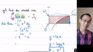Areas by Integration (6 of 6: Area under y = ln x)